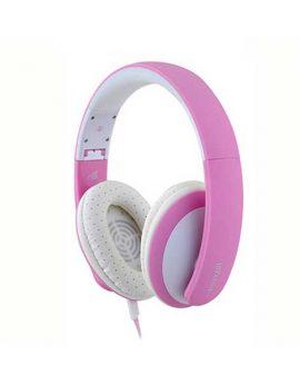 אוזניות ורודות+מיקרופון MAXELL