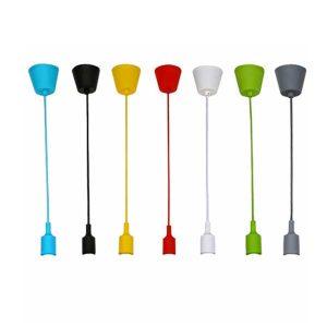 אימוג׳י: כבל מנורת תלייה+בית נורה בצבעים שונים