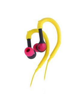 אוזניות ספורט צהובות