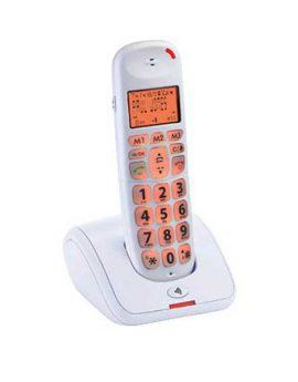 טלפון דקורטיבי לבן L100
