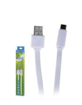 כבל USB 3.0 TYPE-C TPE לבן 1M